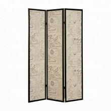 ACME Zita 3-Panel Screen Room Divider - 98293 - Black