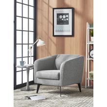 View Product - Divani Casa Bannack Modern Light Grey Fabric Lounge Chair