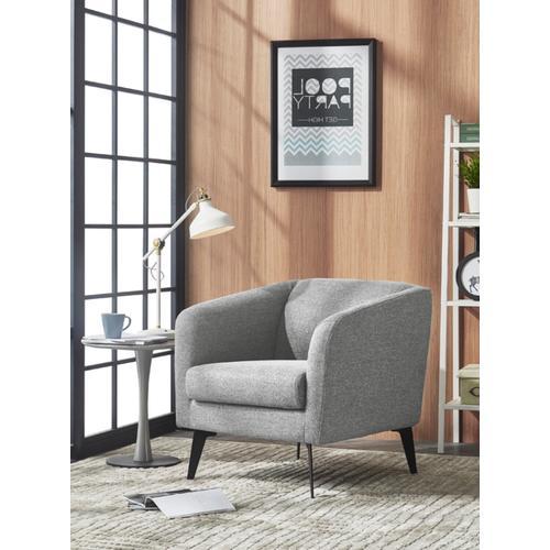 VIG Furniture - Divani Casa Bannack Modern Light Grey Fabric Lounge Chair