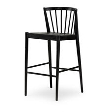 Bar Stool Size Matte Black Finish Milan Bar + Counter Stool