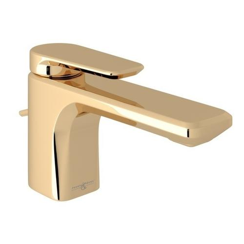 English Gold Perrin & Rowe Hoxton Single Hole, Single Lever Lavatory Faucet with Hoxton Metal Lever