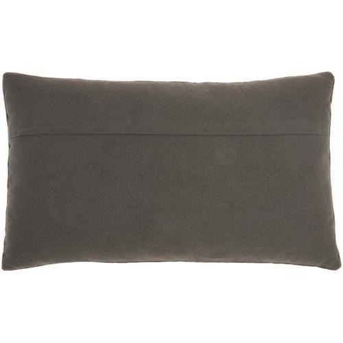 "Sofia Az534 Dark Grey 12"" X 20"" Throw Pillow"