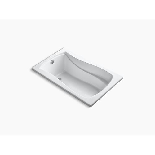"White 60"" X 36"" Drop-in Bath With Bask Heated Surface and Reversible Drain"