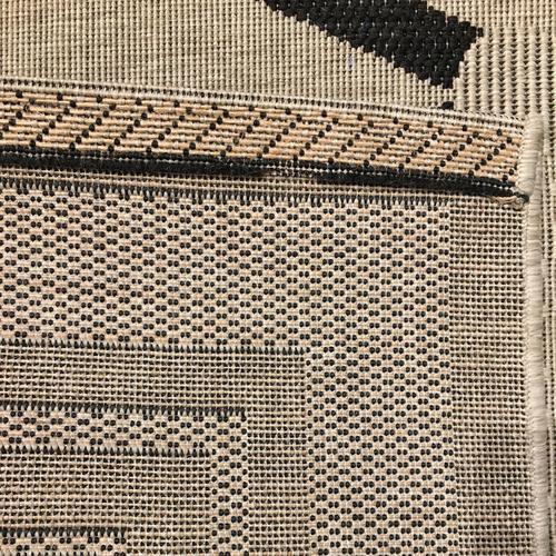 Finesse-Lattice Noir Machine Woven Rugs