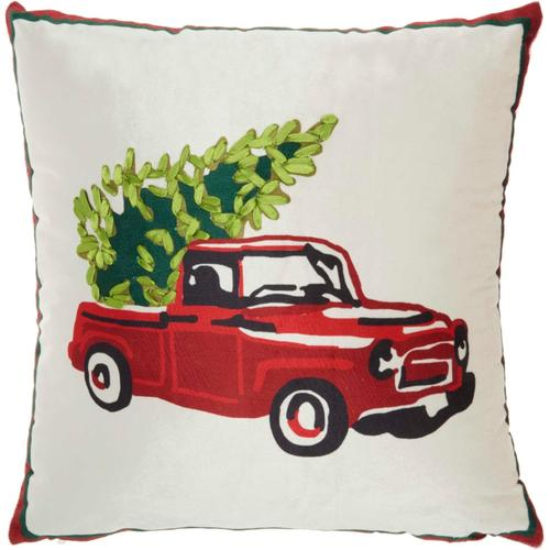 """Home for the Holiday L8526 Multicolor 18"""" X 18"""" Throw Pillow"""