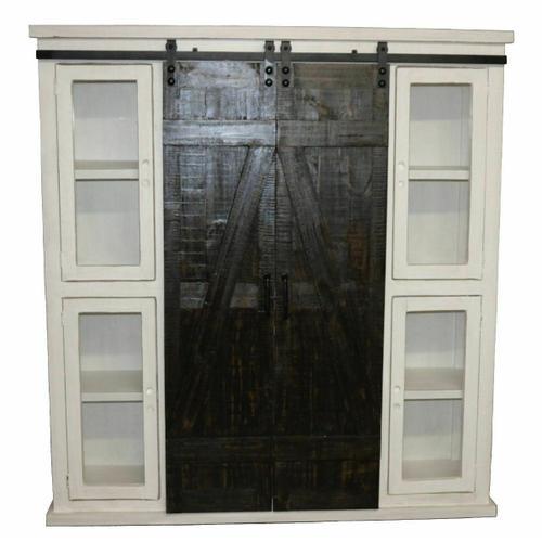 Million Dollar Rustic - 10315w Barn Door Bookcase/pantry