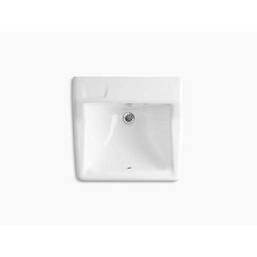 "White 22"" X 19"" Wall-mount Bathroom Sink Less Triton Faucet"