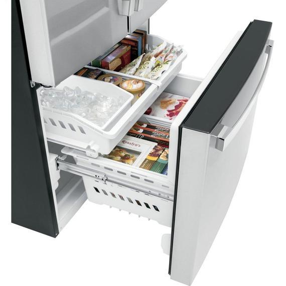 GE Appliances - GE® ENERGY STAR® 27.0 Cu. Ft. Fingerprint Resistant French-Door Refrigerator