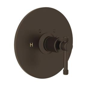 Campo Thermostatic Trim Plate without Volume Control - Tuscan Brass with Industrial Metal Lever Handle