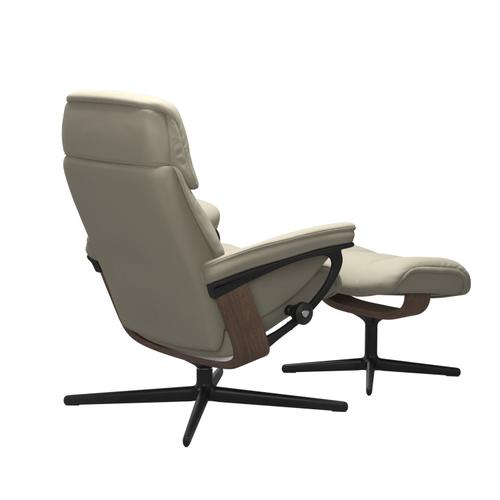Stressless By Ekornes - Stressless® Ruby (L) Cross Chair with Ottoman