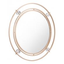 Floating Round Lucite Mirror Gold
