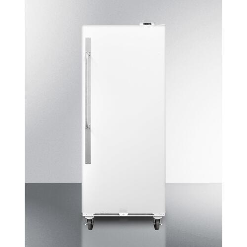 Commercially Approved Large Capacity Upright All-freezer With Frost-free Operation, Digital Thermostat, Casters, and Lock