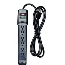 6 Outlet Surge Protector with 2 USB Charging Ports