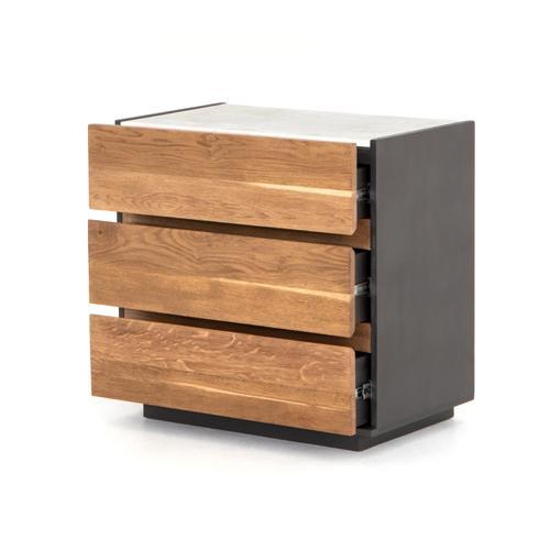 Holland 3 Drawer Dresser-dark Smoked Oak
