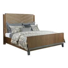 See Details - AD Modern Synergy King Chevron Maple Bed