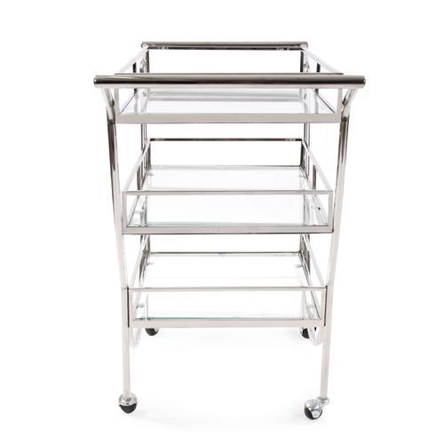 Stainless Steel Bar Cart on Castors