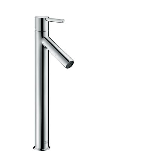 Brushed Nickel Single lever basin mixer 250 with lever handle for wash bowls with waste set