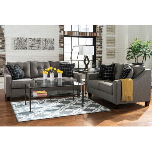 Brindon Sofa & Loveseat Charcoal