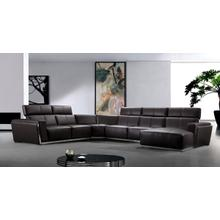 See Details - Divani Casa Tempo - Leather Sectional Sofa