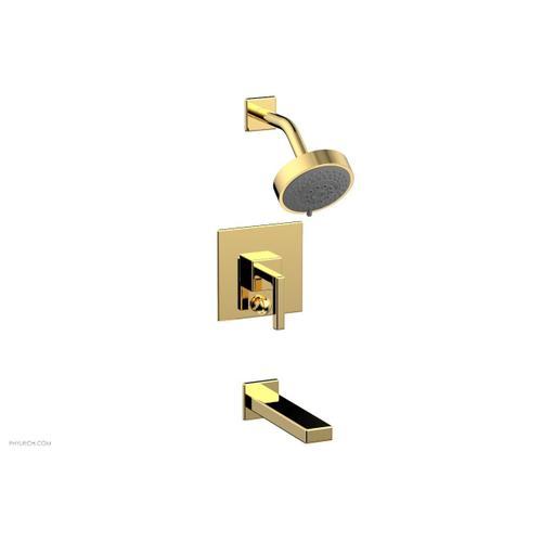 MIX Pressure Balance Tub and Shower Set - Lever Handle 290-27 - Polished Gold