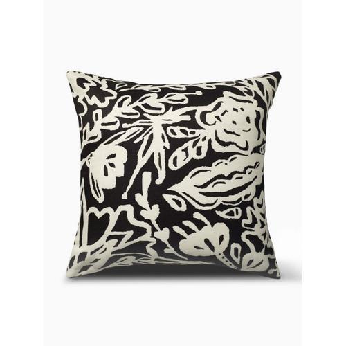 """Fab Habitat - Glamis Double Sided Indoor Outdoor Decorative Pillow - Black (20"""" x 20"""")"""