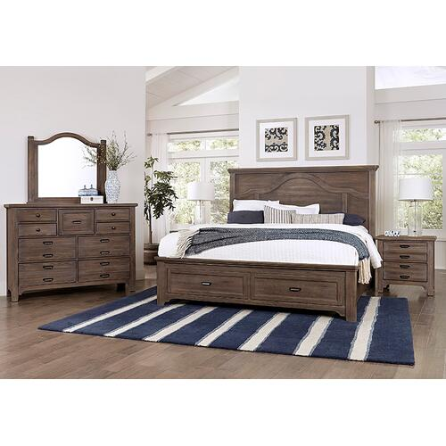 Lm Co. Home - Mantel Storage Bed Queen & King
