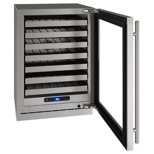 "24"" Wine Refrigerator With Stainless Frame Finish and Right-hand Hinge Door Swing (115 V/60 Hz Volts /60 Hz Hz)"