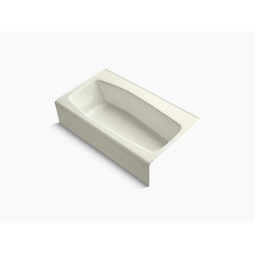 """Biscuit 60"""" X 34"""" Alcove Bath With Right-hand Drain"""
