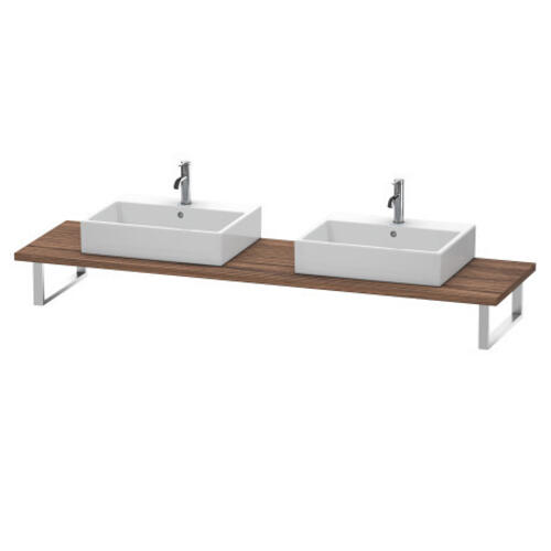 Console For Above-counter Basin And Vanity Basin, Walnut Dark (decor)