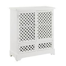 See Details - Latrobe White 2 Door 2 Drawer Cabinet