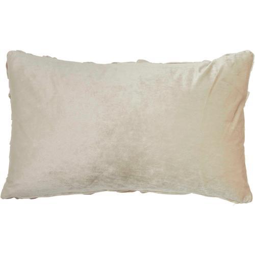 "Life Styles L0064 Beige 14"" X 24"" Throw Pillow"