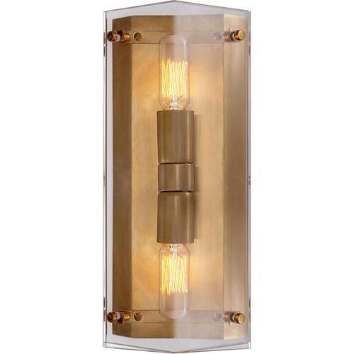 Visual Comfort - AERIN Clayton 2 Light 6 inch Crystal Wall Sconce Wall Light