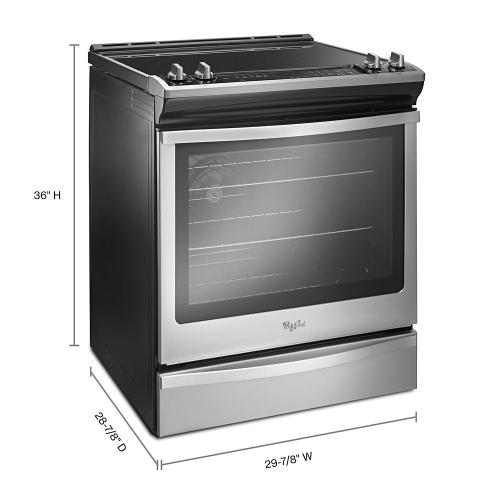Whirlpool - 6.4 Cu. Ft. Slide-In Electric Range with True Convection