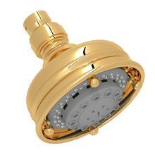 View Product - 4 Inch Santena 3-Function Showerhead - Italian Brass