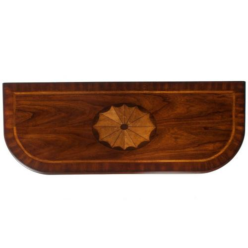 Butler Specialty Company - This classic Console Table features a meticulously handcrafted linen-fold inlay in cherry, maple and walnut veneers on top, stylized cabriole legs in a respendent Olive Ash Burl finish. Drawer with antique brass-finished hardware provides convenient storage.