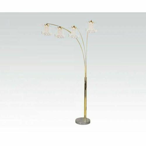 ACME Chandelier Floor Lamp - 03678G KIT - Gold & Marble