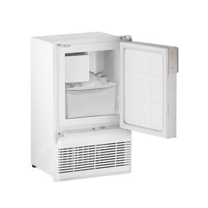 """U-LineWh95fc 14"""" Crescent Ice Maker With White Solid Finish (115 V/60 Hz Volts /60 Hz Hz)"""
