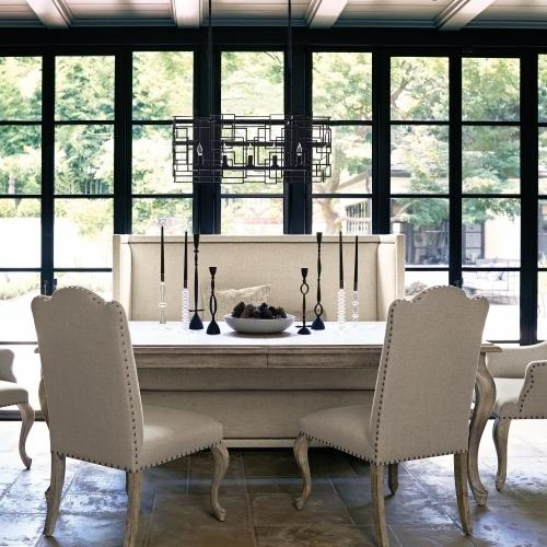 Bernhardt - Campania Dining Table in Weathered Sand (370)
