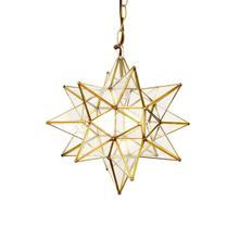 View Product - This Hand-crafted Moravian Star Pendant Illuminates Your Home With Whimsical Sparkle. Brass Finish and Clear Glass Panes Have Classic Appeal, and Petite Scaling Makes It Just the Right Touch for an Intimate Dining Room, Boudoir, or Powder Room. for Added Drama, Group With Our Various Size Offerings To Create and Ethereal Star SCAPE.