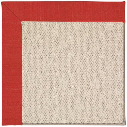 Creative Concepts-White Wicker Dupione Crimson Machine Tufted Rugs