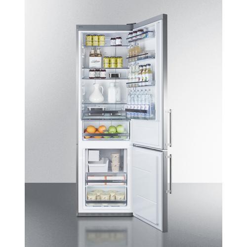 "24"" Wide Bottom Freezer Refrigerator With Icemaker"
