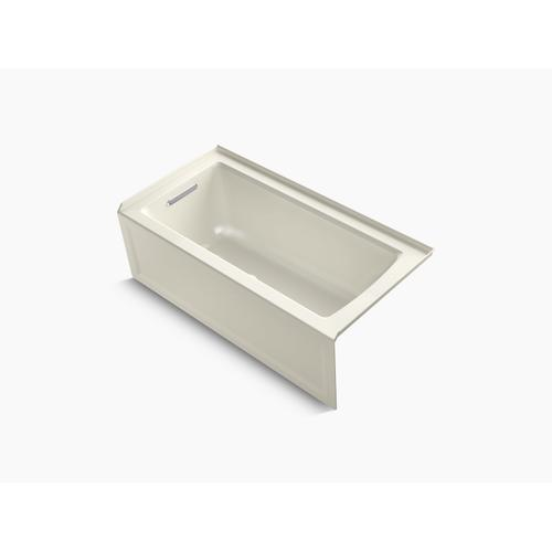 """Biscuit 60"""" X 30"""" Alcove Bath With Integral Apron, Integral Flange and Left-hand Drain"""