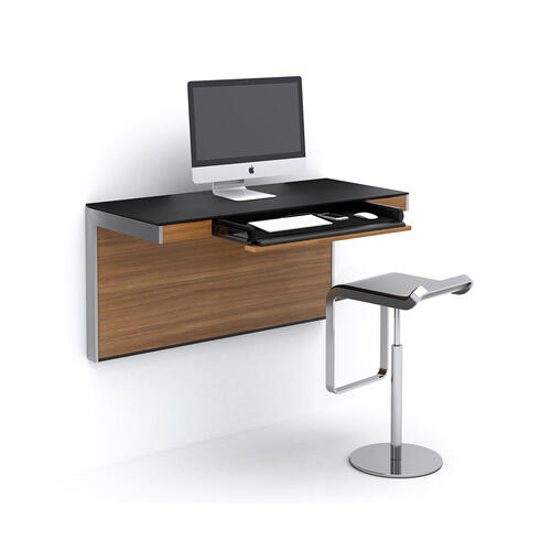 Wall Desk 6004 in Natural Walnut