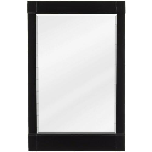 """22"""" x 34"""" Espresso mirror with beveled glass"""