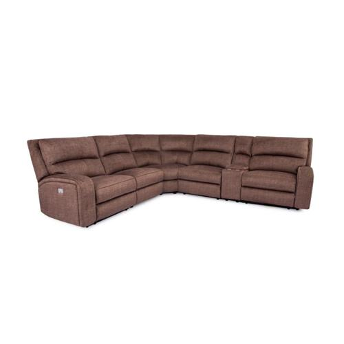 5168 Grenada Optional Armless PWR Recliner w/ PWR Headrests in #30473C Grenada Brown