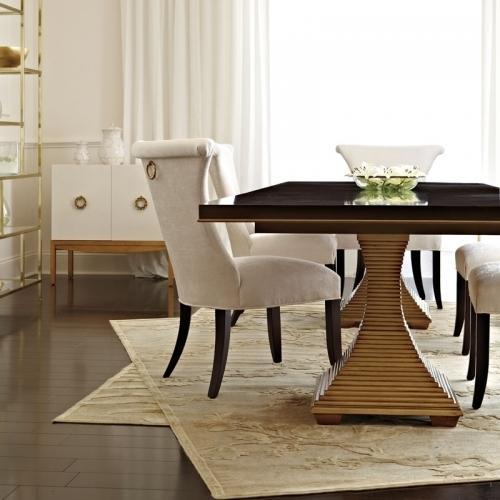 Bernhardt - Jet Set Double Pedestal Dining Table in Caviar (356)