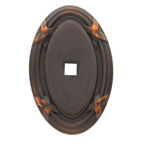 Baldwin - Venetian Bronze Oval Edinburgh Back Plate