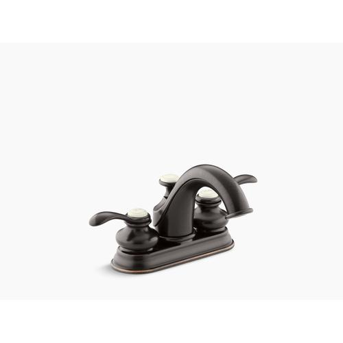 Oil-rubbed Bronze Centerset Bathroom Sink Faucet With Lever Handles