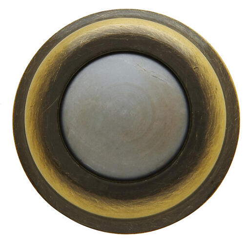 Baldwin - Satin Brass and Black Wall Flush Bumper