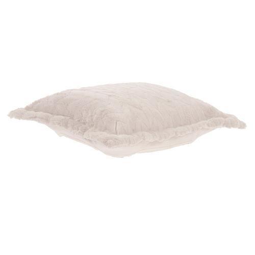 Howard Elliott - Puff Ottoman Cushion Angora Natural (Cushion and Cover Only)
